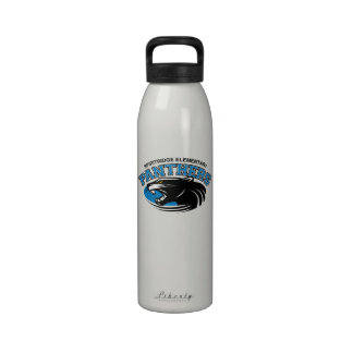 Classic Panther Water Bottle (White)