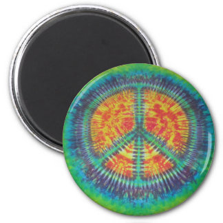 Classic Peace Sign Tie Dye Magnets