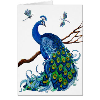 Classic Peacock Design Card