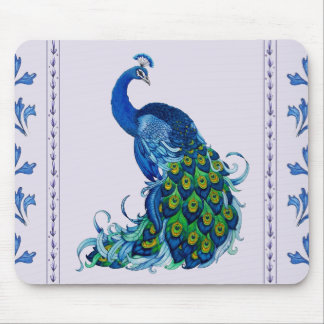 Classic Peacock Design Mouse Pad