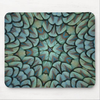 Classic Peacock Feather Kaleidoscope Mouse Pad