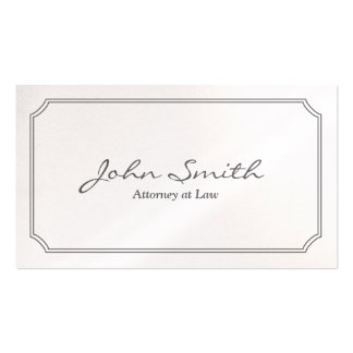 Classic Pearl White Attorney Business Card