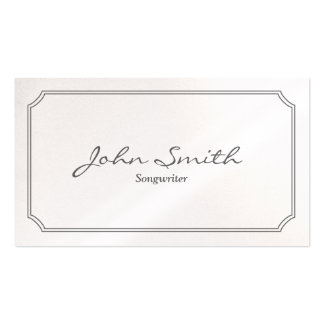 Classic Pearl White Songwriter Business Card