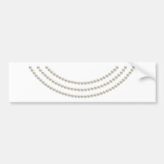 Classic Pearls Bumper Sticker