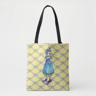 Classic Pen Illustration of the Lady in Ink Tote Bag