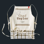 """Classic Personalized Chef&#39;s, Foodie&#39;s, or Cook&#39;s Zazzle HEART Apron<br><div class=""""desc"""">Make the this chef design for your favorite chef, foodie, cook, or mom, ANY NAME you desire and ANY COLOR. Enter NAME, select CUSTOMIZE, then change BACKGROUND COLOR and TEXT COLOR to make this apron any color your heart desires! Whether a budding chef just learning the art of cooking, baking,...</div>"""