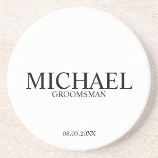 Classic Personalized Groomsmen Coaster