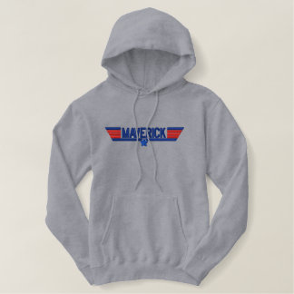 Classic Personalized Maverick Wings Your Text Embroidered Hoodie