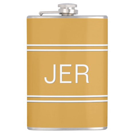 Classic Personalized Monogram Initials Drink Flask