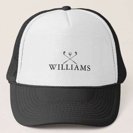 Classic Personalized Name Golf Clubs Trucker Hat