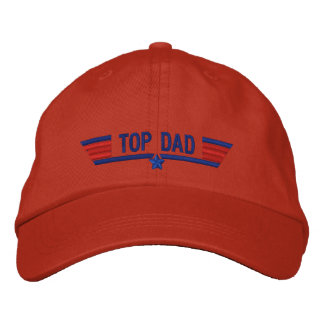 Classic Personalized Top Gun Dad Wings Your Text Embroidered Baseball Cap