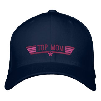Classic Personalized Top Gun Mom Wings or My Text Embroidered Baseball Cap
