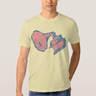 Classic Phonograph T Shirt Solid Pink