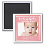 Classic Photo Birth Announcement Fridge Magnets