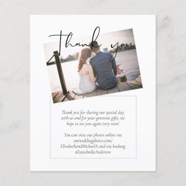 Classic PHOTO Budget Wedding Thank You Card