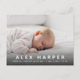 Classic photo collage Birth Announcement Postcard