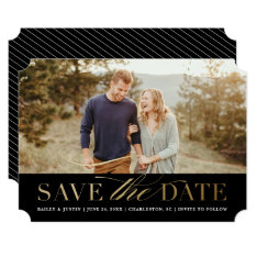 Classic Photo Save The Date Announcement at Zazzle
