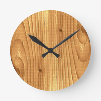 Classic Pine Untreated Wood Round Clock