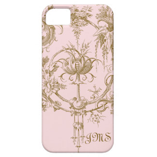 Classic Pink and Brown Toile Pattern iPhone SE/5/5s Case