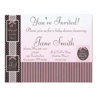 Classic Pink Baby Shower Invitation