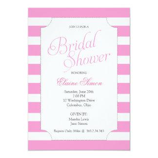 "Classic Pink Bridal Shower Party Invitation 5"" X 7"" Invitation Card"