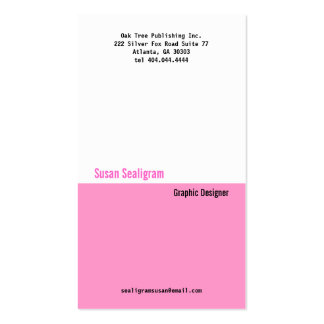Classic Pink Divider Business Card