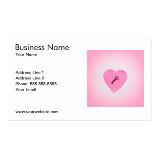 Classic Pink Heart Relationship Consultant Business Card