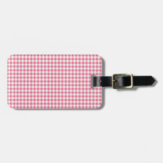 Classic Pink Picnic Gingham Bag Tag