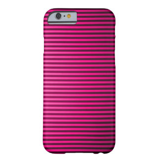 Classic Pink Pinstripe Barely There iPhone 6 Case