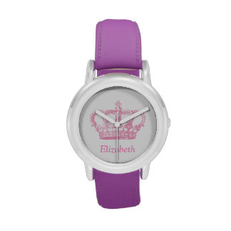 Classic Pink Princess Crown Wristwatches