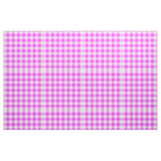 Classic Pink & White Gingham Block Pattern Fabric