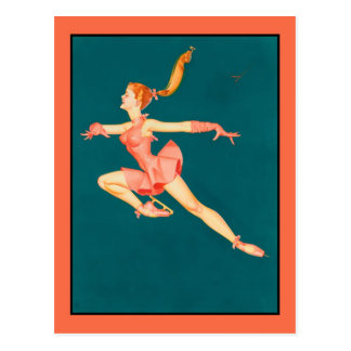 Classic pinup art The Ballerina (cleaned) Postcard