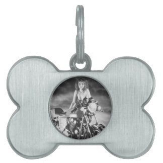 Classic Pinup Classic Motorcycle Pet Tag