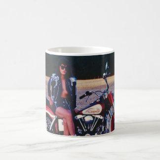 Classic Pinup Girl On A Motorcycle Coffee Mug