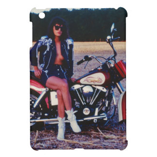 Classic Pinup Girl On A Motorcycle iPad Mini Covers