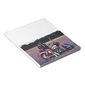 Classic Pinup Girl On A Motorcycle Notepad