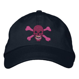 Classic Pirate Crossbones Skull Embroidery Embroidered Hats