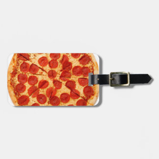 classic pizza lover bag tag
