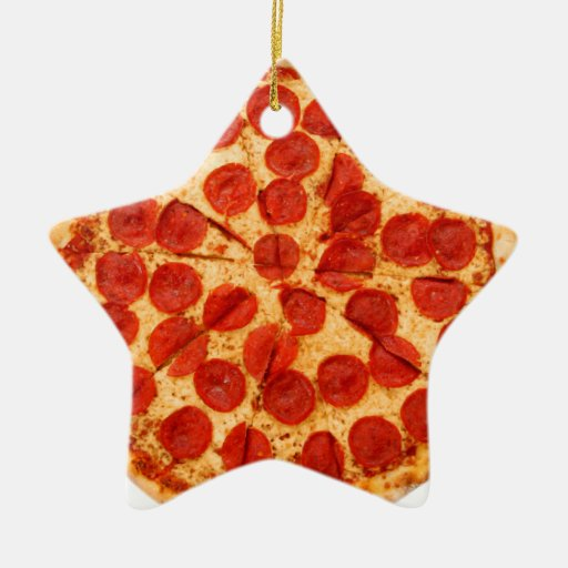 Classic Pizza Lover Double Sided Star Ceramic Christmas