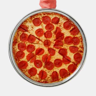 classic pizza lover metal ornament