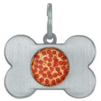 classic pizza lover pet ID tag