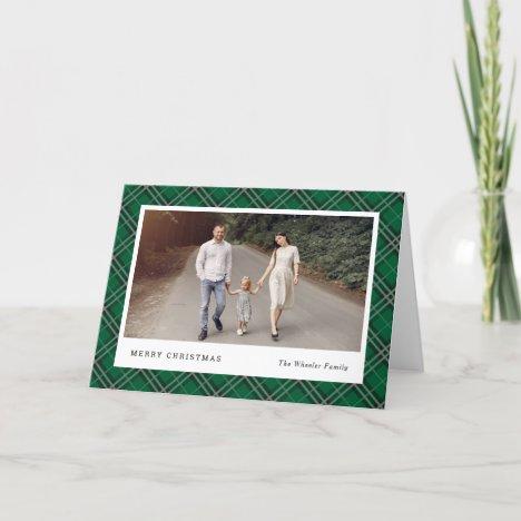 Classic Plaid Editable Color Holiday Photo Card