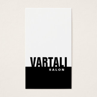 Classic Plain Black Salon Business Card