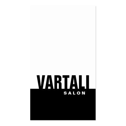 Classic Plain Black Salon Business Card