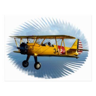 classic plane postcard