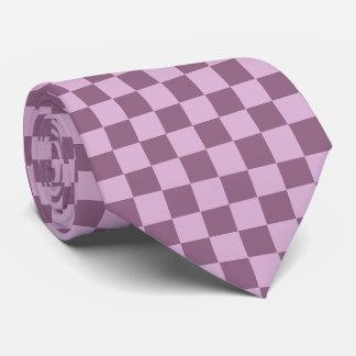 Classic Plum Checkerboard Mens Tie