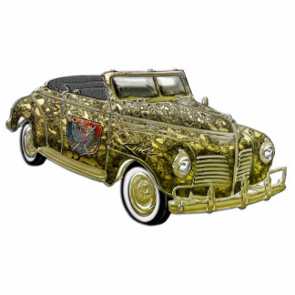Classic Plymouth Custom Gold Convertible Cut Outs
