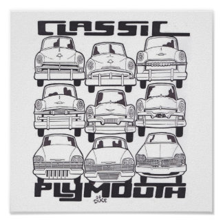 CLASSIC PLYMOUTH PRINT