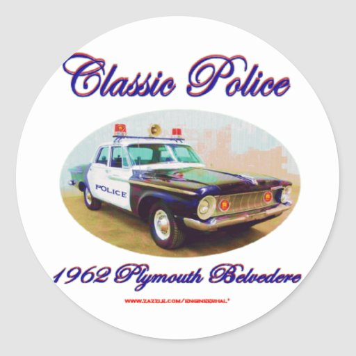 Classic Police1962 Plymouth Belvedere Classic Round Sticker