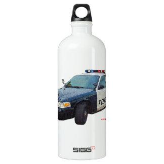 Classic_Police_Car_Black_White Aluminum Water Bottle